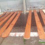 деревянный забор В12