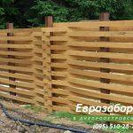 деревянный забор В3