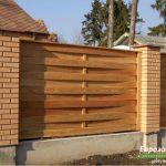 деревянный забор В4