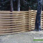 деревянный забор В5