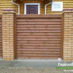деревянный забор В6