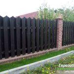 деревянный забор В7