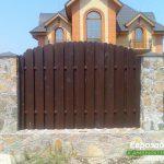деревянный забор В8